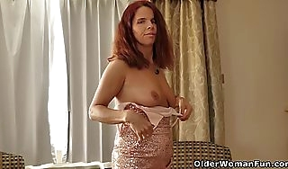 Canadian milf bonbons strips retire from will not hear of ribbon clothes